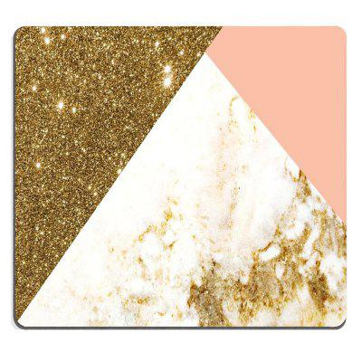 Non-Slip Rectangle Gold Marble Grains Mouse Pad do Home Office i Gaming Desk