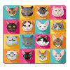 Set of Flat Popular Breeds of Cats Icons Personality Desings Gaming Mouse Pad - MULTI