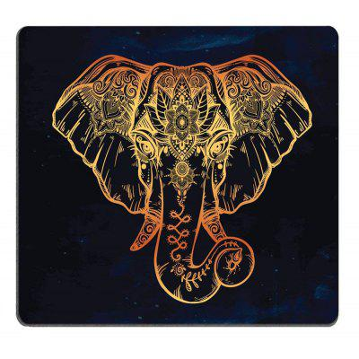 The Golden Elephant Nonslip Rubber Backing Mouse Pad
