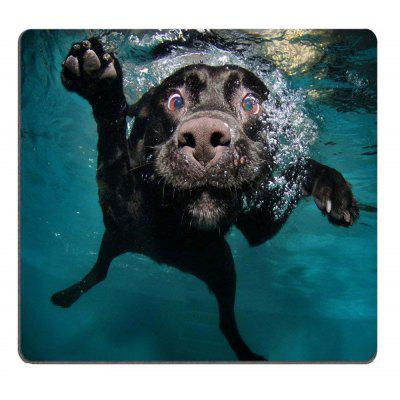Funny Black Labrador Retriever Dog Swimming with Expressive Face Gaming Mousepad