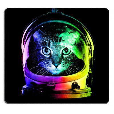 Non-Slip Rectangle Black Cat Mouse Pad for Home Office and Gaming Desk