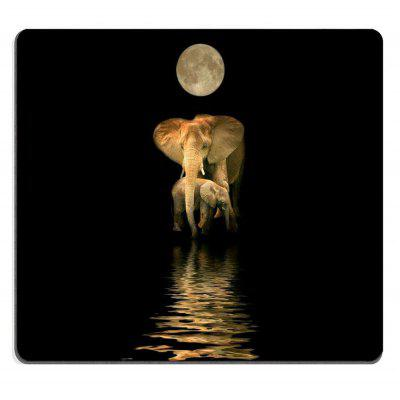Non-Slip Rectangle Darkness Elephant Mouse Pad for Home Office and Gaming Desk