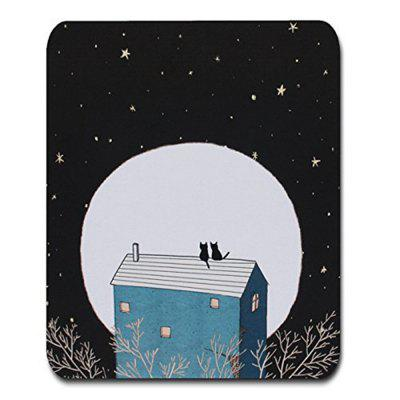 Custom Original Night and Cat Nature Series Mouse Pad