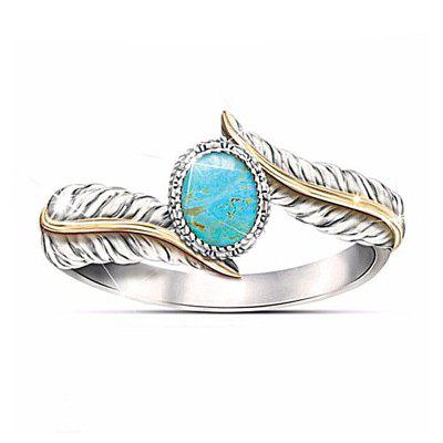 Magnificent Women Jewelry Turquoise Feather Party Ring