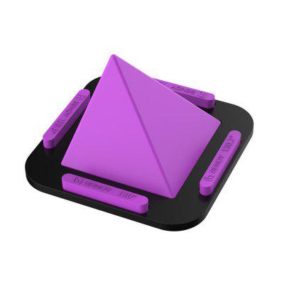 Angle en silicone multi-slip avec support pyramidal pour iPhone X