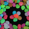 100PCS Glow in the Dark Luminous Pebbles Stones Fish Tank Aquarium Party Event - MULTI-A