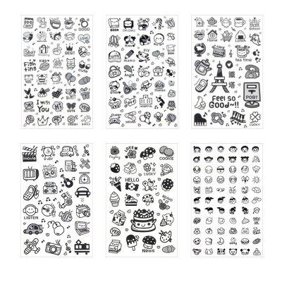 6PCS/PACK Cute Cartoon Diy Diary Decoration Sticker Kawaii Sealing Stickers