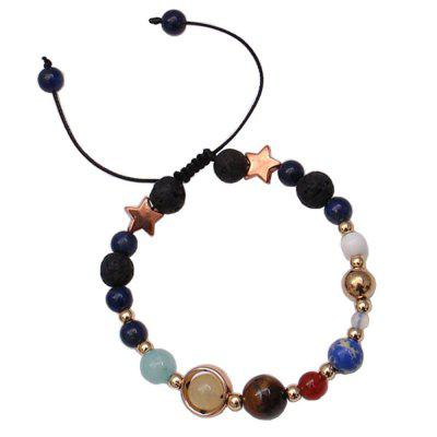 Universe Solar System Colorful Beads Bracelet