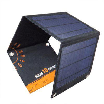 16W Solar Mobile Power Charging Treasure Phone Charger