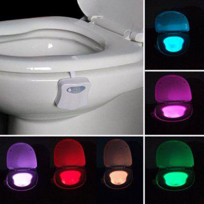 YEDUO 8 Colors Human Motion Sensor Toilet Bathroom Night Light Home Decoration