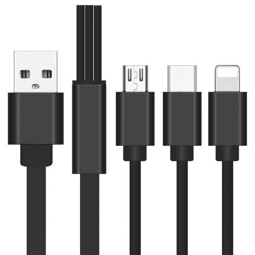 3-in-1 Usb Type-C Micro Usb Quick Charging Cable