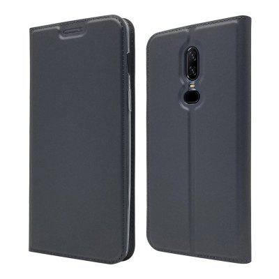 Funda para Oneplus 6 Card Holder Magnetic Full Body Solid Hard PU Leather