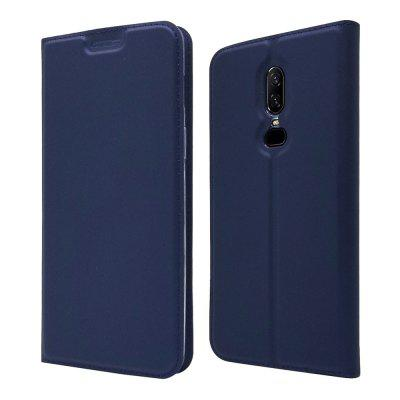 Pouzdro na držák Oneplus 6 Card Magnetic Full Body Solid Solid PU Leather