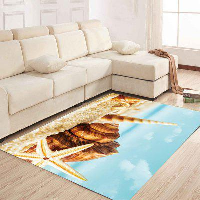 Simple North Europe Style Rug Beach Conch Pattern Floor Mat Living Room Bedroom simple north europe style rug blue sky and beach pattern floor