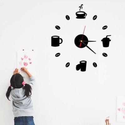 Horloge murale Creative DIY Cartoon Numbers Modern Numbers Décoration de la maison Vivre