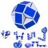 Creative Speed Cube Children Educational Toy Magic Spring Feet Ruler Puzzle - BLUE