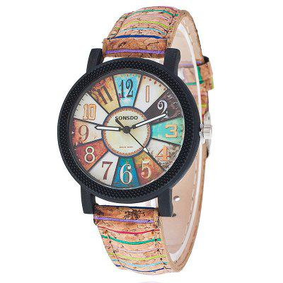 Casual Relogio Feminino Vintage Leather Women Quartz Wrist Watch Gift Clock luxury fashion wood watch for women simple design natural bamboo wooden casual quartz wrist watch men ladies clock
