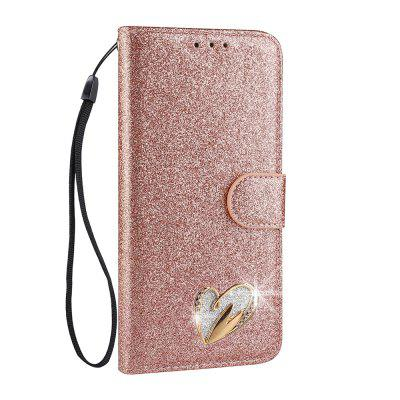 Shining Shuttle Case with Metallic Heart Shape for iPhone5/5S