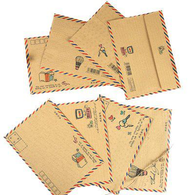 8PCS Retro Kraft Paper Envelopes Office School Supply