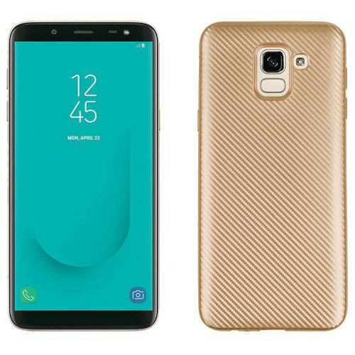 f9d3680eafd Case for Samsung J6 2018 No Fingerprints Back Cover Fiber Pattern Soft TPU