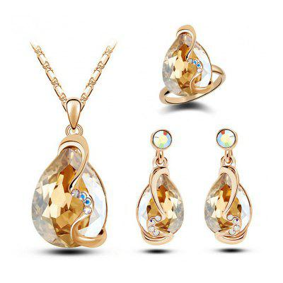 Fashion Party Accessories Earrings Pendant Necklace Ring Jewelry Set