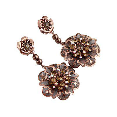 Fashion Hollow-out Flower Pendant Pinch Earrings
