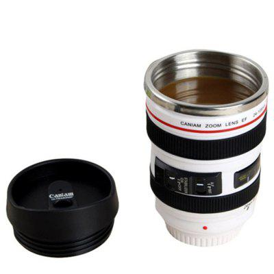 Coffee Mug Camera Lens Travel Thermos Stainless Steel Insulated Cup
