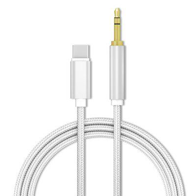 3.5mm Male Aux Audio Cable Auxiliary Stereo Cord for Type-C Phone Headphone Car