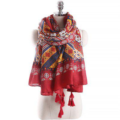 Spring and Autumn Fashion Ethnic Style Printed Pattern Warm Scarf
