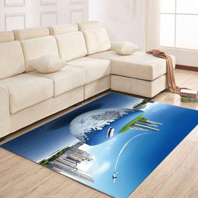 Simple North Europe Style Rug Earth And City Pattern Floor Mat Living Room simple north europe style rug blue sky and beach pattern floor