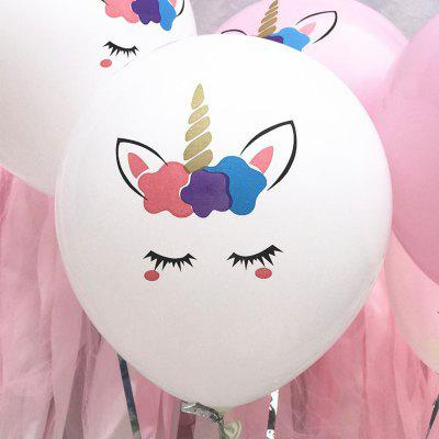 Color Thickened Unicorn Latex Balloon