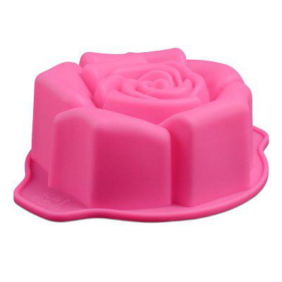 Rose-shaped Silicone Chocolate Cake Mould