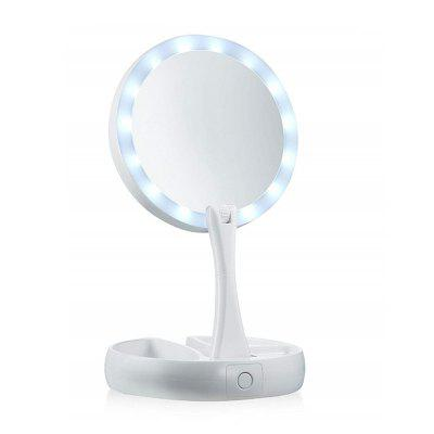 Desktop Makeup Mirror LED-illuminated 10X Magnification Double Sided Light