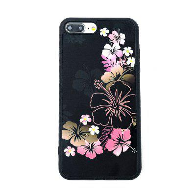 Pink Flower Phone Case for iPhone 7 Plus with Holder embossed tpu plastic hybrid case with ring holder for iphone 7 plus animals snow winter