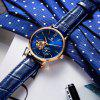 STARKING AM0213 Leather Famous Brand Blue Analog Automatic Male Watch - SAPPHIRE BLUE