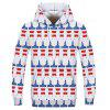Fashion Men's Printed Multicolor Five-Pointed Star Hoodie - MULTI