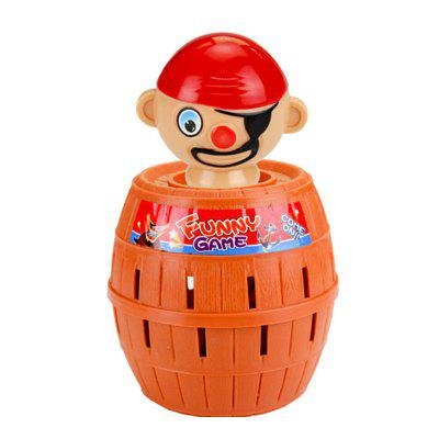 Funny Gadget Pirate Barrel Game for Children Lucky Stab Pop Up Toy