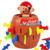 Funny Gadget Pirate Barrel Game для детей Lucky Stab Pop Up Toy - Шоколадный