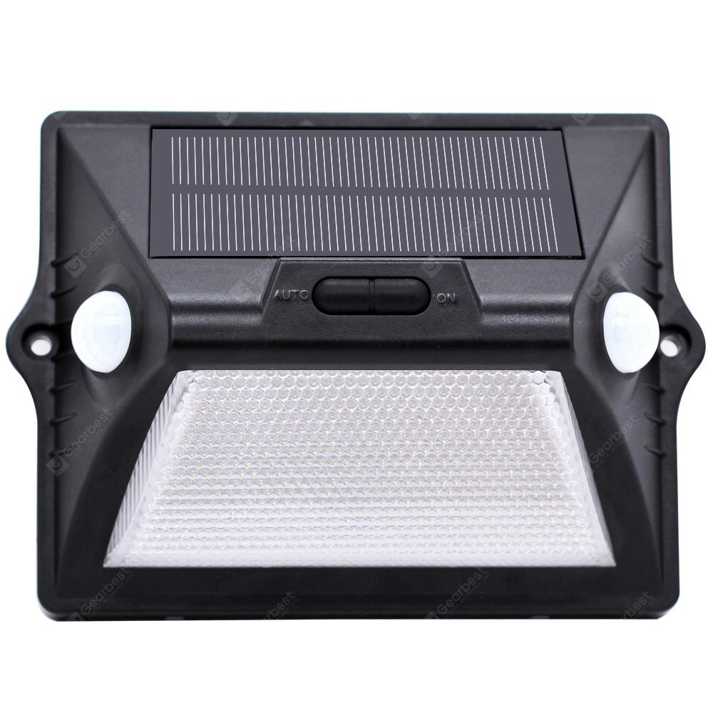 Intelamp Dual-head High Bright Solar Sensor Lamp with RGB - BLACK