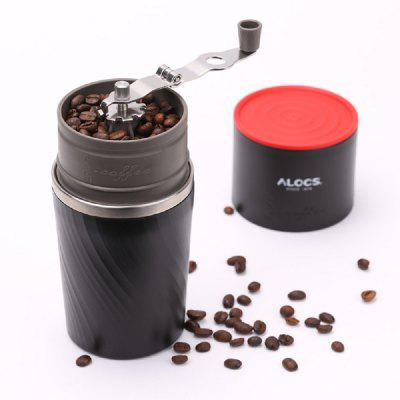 ALOCS Manual Portable Mini Coffee Bean Grinder Home portable manual coffee maker handheld espresso coffee machine