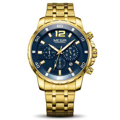 MEGIR 2068 Men Luminous Display Chronograph Business Quartz Wrist Watch