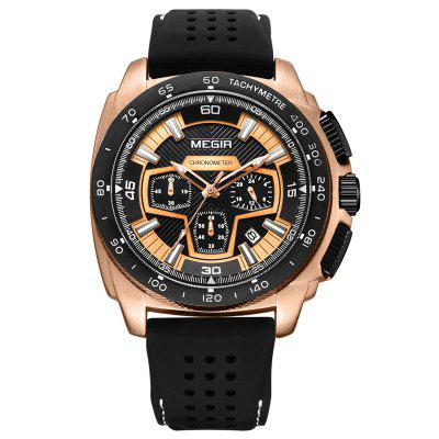Megir Man Timing Movement Waterproof Calendar Quartz Watch