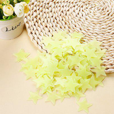 100st Fluorescerende muurstickers Stars Decal Glow In The Dark Bedroom Home