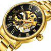 WINNER Men Classic Gold Stainless Steel Band Automatic Mechanical Watch - MULTI-A