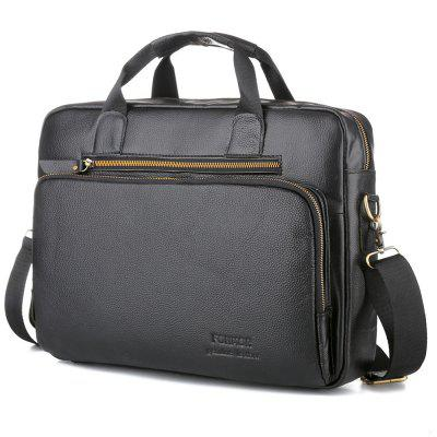 New Arrival Business Causal Men Genuine Leather Briefcase 15 Inch Handbag