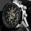 WINNER Men Luxury Fashion Skull Classic Sport Orologio meccanico automatico - MULTI COLORI-B