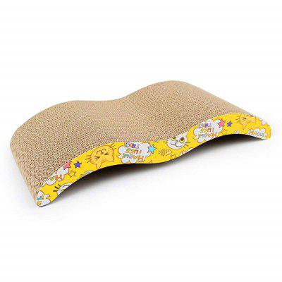 Cat Board Durable Welle Design Incline Scratcher Kitty Spielzeug