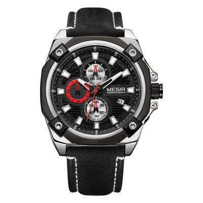 Megir Sport Mens cuarț analogic cronograf moda casual de afaceri Watch