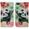For iPhone 8 Plus 7 Plus Bamboo Panda Painting Phone Case - MULTI