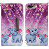For iPhone 8 Plus 7 Plus Fireworks Elephant Painting Phone Case - MULTI